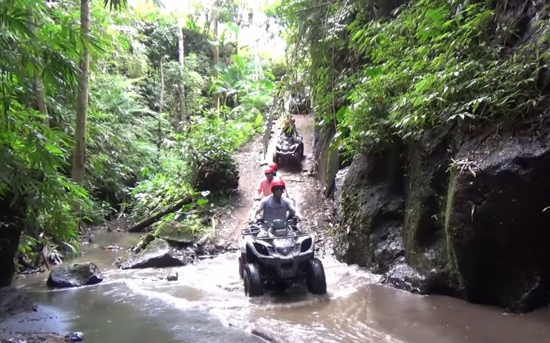 Bali Atv Ride Through Cave Waterfall And River 40 Off